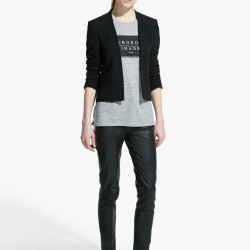 Kısa Siyah Mango Blazer Ceket Modelleri