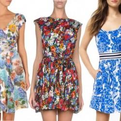 Kısa Yeni Sezon Çiçek Desenli Elbise Modelleri