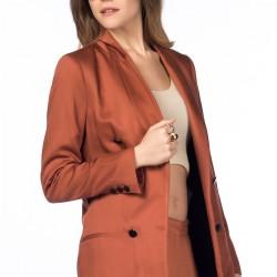 Kiremit Rengi Ceket Zara Yeni Sezon Modelleri