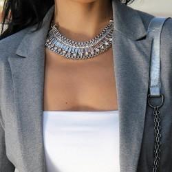 Kristal Taşlı Gümüş Kolye 2015 Takı Modelleri