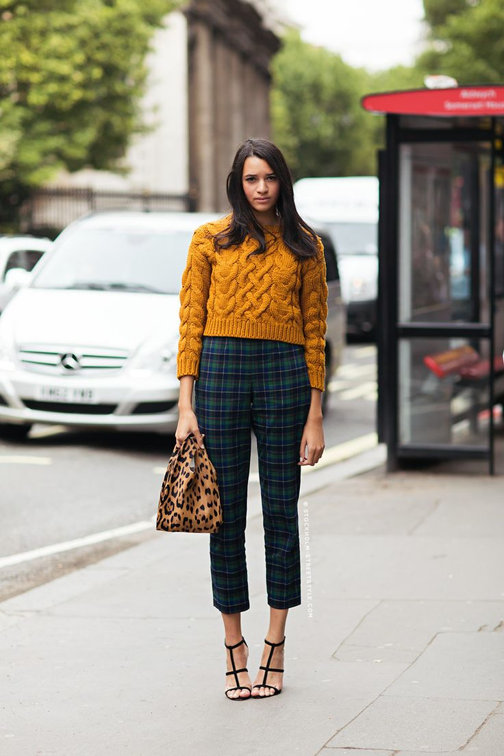 Lacivert Yeni Sezon Ekose Pantolon Modelleri