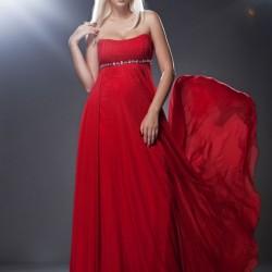 Zarif Taşlı Kırmızı Abiye Modelleri
