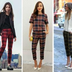 Zarif Yeni Sezon Ekose Pantolon Modelleri