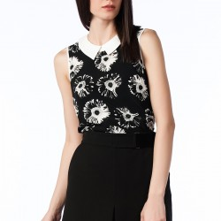 Çiçek Baskılı Kolsuz Bluz Nişantaşı Yeni Sezon Modelleri
