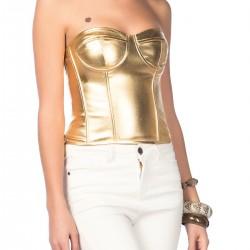 Altın Rengi Bluz Yeni Sezon Yarıcı Modelleri