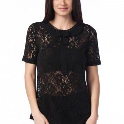 Dantelli Siyah Bluz Nişantaşı Yeni Sezon Modelleri