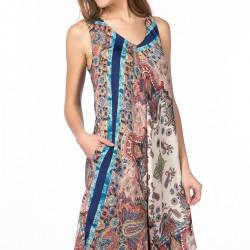 Desenli Kolsuz Zara 2015 Elbise Modelleri