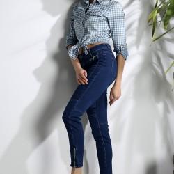 Fermuar Detaylı Bilek Boy 2015 Jean Pantolon Modelleri