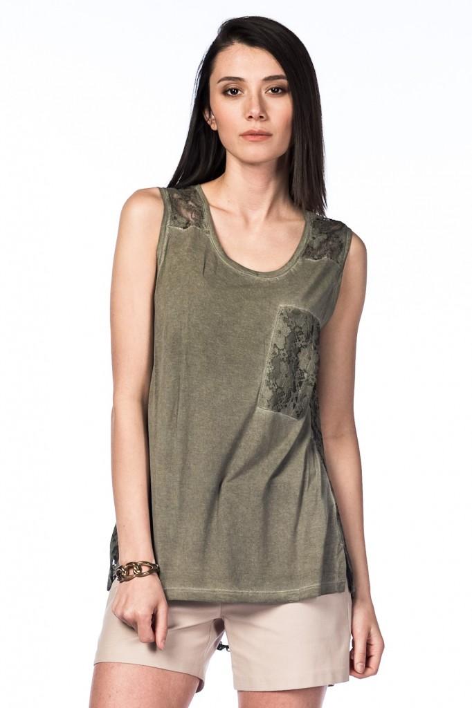 Haki Rengi Tişört NG Style Yeni Sezon Modelleri