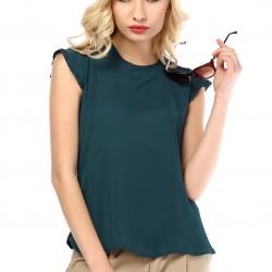 Petrol Yeşili 2015 Yazlık Bluz Modelleri