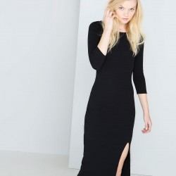 Sade Siyah Bershka 2015 Elbise Modelleri