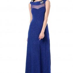 Sim Detaylı Mavi 2015 Mezuniyet Balosu Abiye Modelleri