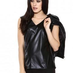 V Yaka Kolsuz Deri Bluz 2015 Batik Modelleri
