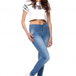 Yüksek Bel 2015 Jean Pantolon Modelleri