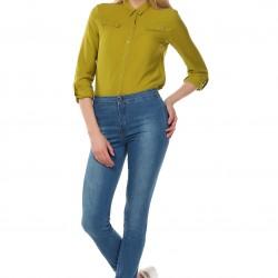 Yüksek Bel Cepsiz 2015 Jean Pantolon Modelleri