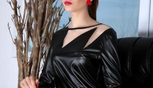 Zarif Siyah Deri 2015 Yazlık Bluz Modelleri