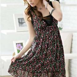 Çiçekli Şifon Elbise Modelleri