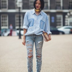 İddialı Yırtık Pantolon Modelleri