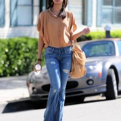 İspanyol Paça Yırtık Pantolon Modelleri