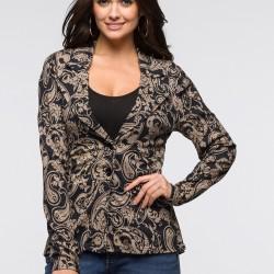 Şal Desenli Yazlık Blazer Ceket Modelleri