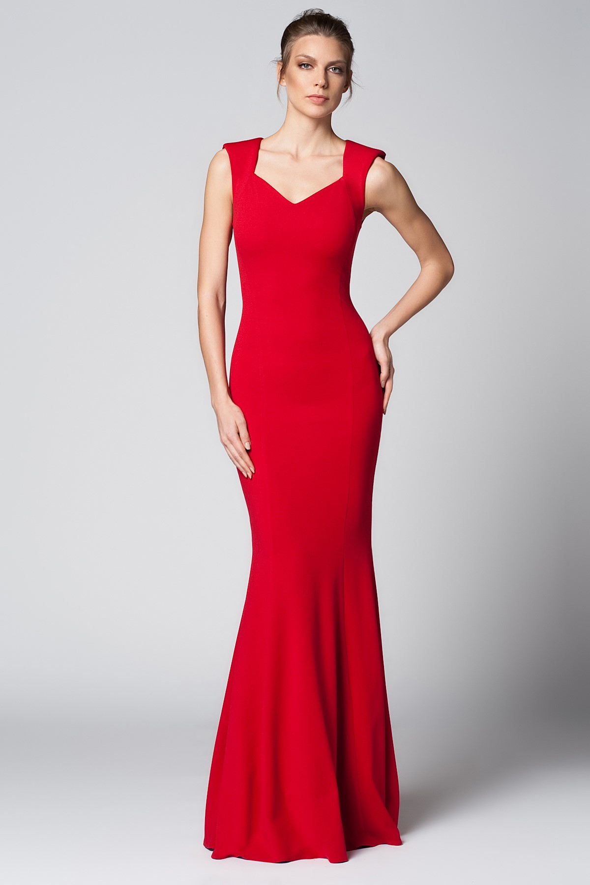 8468fd327de95 Askılı Kırmızı 2015 Mezuniyet Elbisesi Modelleri