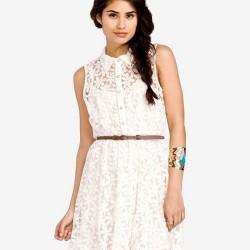 Beyaz En Güzel Dantelli Elbise Modelleri