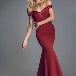 Bordo 2015 Mezuniyet Elbisesi Modelleri