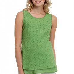 Elma Yeşili Hamile Bluz Modelleri