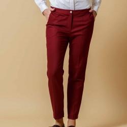 Erkek Bordo 2015 Sigaret Pantolon Modelleri