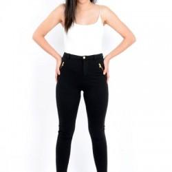 Fermuar Cepli Siyah Yazlık Pantolon Modelleri
