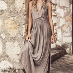 Göğüs Dekolteli Elbise Mango 2015 Yaz Modelleri