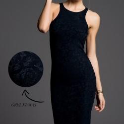 Jakarlı İnce Gösteren Elbise Modelleri