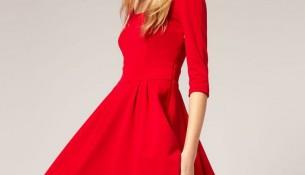 Kırmızı 2015 Kloş Elbise Modelleri