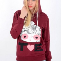 Kapşonlu Bordo 2015 Sweat Modelleri