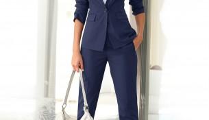 Lacivert Yazlık Blazer Ceket Takımı