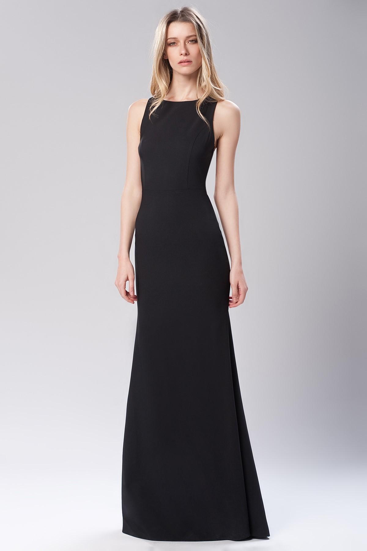 c8c6b64b7891f Sıfır Kol Siyah 2015 Mezuniyet Elbisesi Modelleri