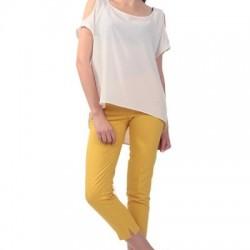Sarı Yazlık Pantolon Modelleri