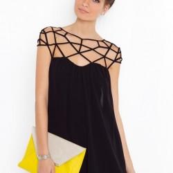 Siyah Şifon Elbise Modelleri