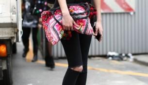 Siyah Yırtık Pantolon Modelleri