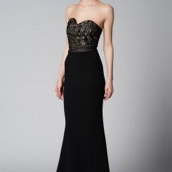 Straplez Siyah 2015 Mezuniyet Elbisesi Modelleri
