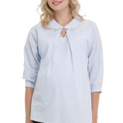 Taş Süslemeli Açık Mavi Hamile Bluz Modelleri