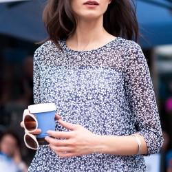 Çiçek Desenli Şifon Olgun Orkun Bluz Modelleri