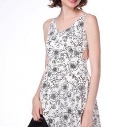 Çiçek Desenli Askılı Dilvin Elbise Modelleri