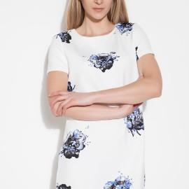 Çiçek Desenli Beyaz Vero Moda 2015 Elbise Modelleri