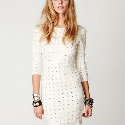 Şık 2015 Beyaz Elbise Modelleri