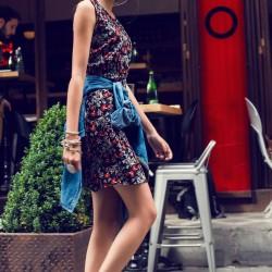 Şık Elbise 2015 Yaz Sokak Modası