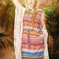 Şık Etnik Desenli Elbise Modelleri
