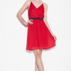 Şık Kırmızı Vero Moda 2015 Elbise Modelleri
