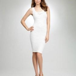 Askılı Dantelli 2015 Beyaz Elbise Modelleri