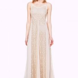 Askılı Pudra İpekyol Elbise Modelleri